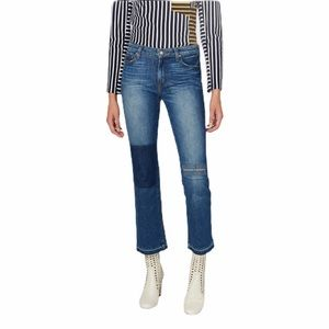 Derek lam 10 Crosby -gia cropped flare patch jeans